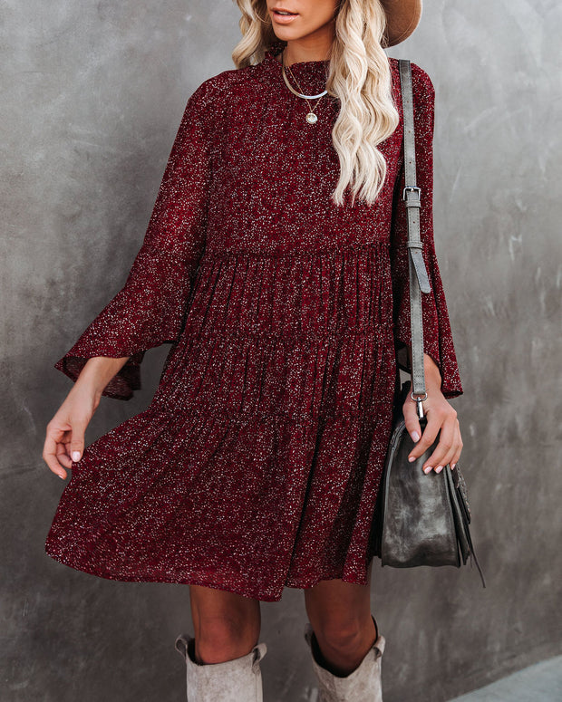 Rhode Island Bell Sleeve Tiered Dress