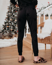 Rising Star Cotton Blend Pocketed Velvet Joggers