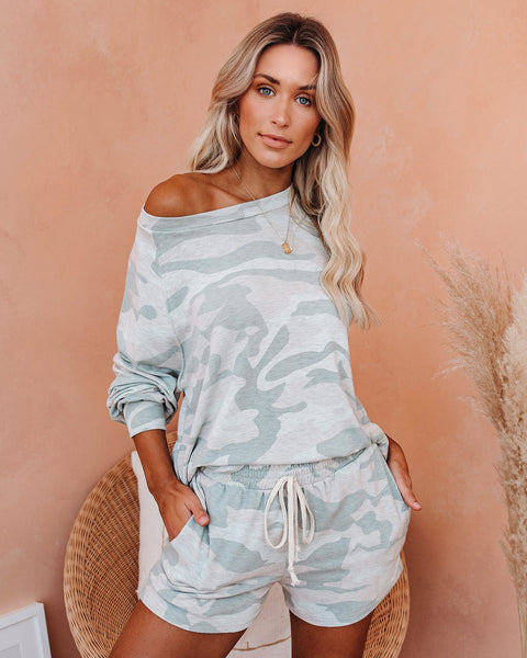 Road Less Traveled Camo Knit Top