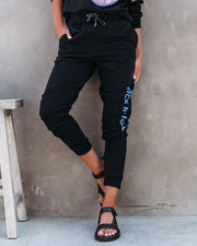 Rock N' Roll Cotton Blend Pocketed Joggers view 6