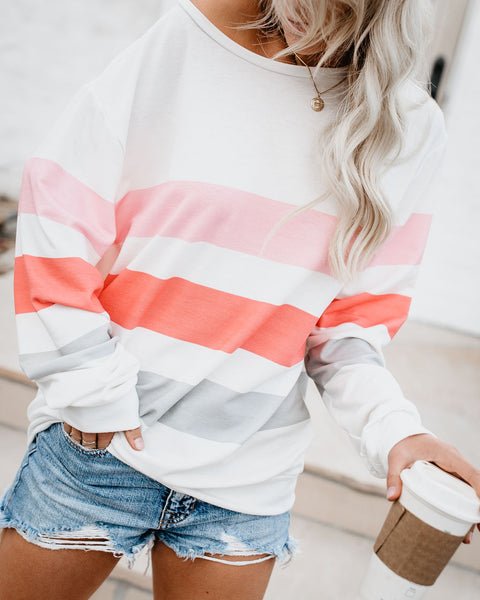 Roller Girl Striped Pullover