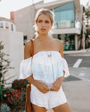 Cast Away Off The Shoulder Romper