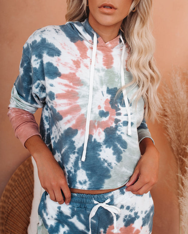 Ronny Tie Dye Crop Knit Hoodie - FINAL SALE view 5
