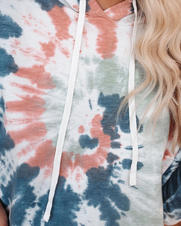 Ronny Tie Dye Crop Knit Hoodie - FINAL SALE view 4