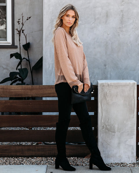 Rose Gold Long Sleeve Blouse