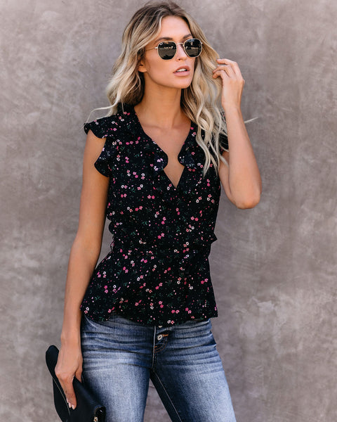 Rozanna Floral Ruffle Blouse
