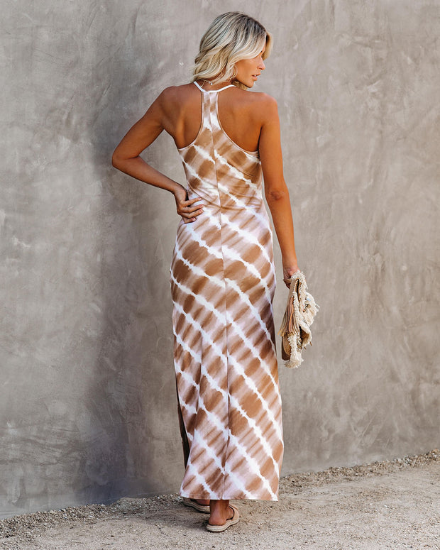 Rue Tie Dye Knit Maxi Dress - Taupe