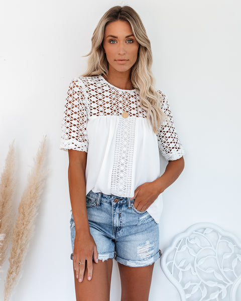 Russian River Crochet Panel Blouse