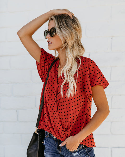 Rust Genevieve Drape Top