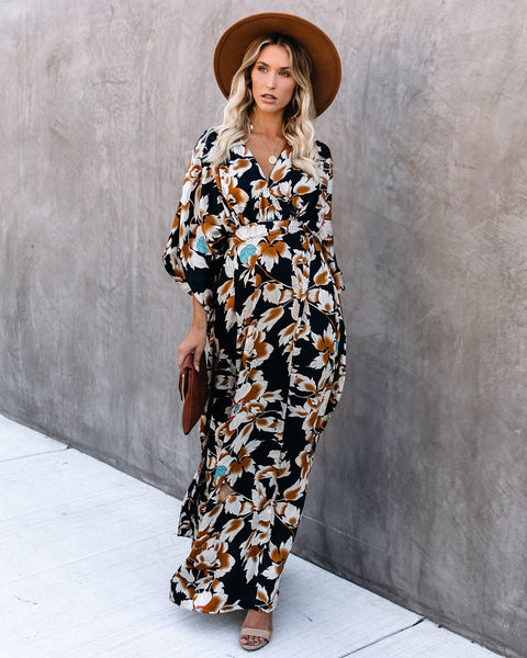 Ryland Tie Back Kimono Maxi Dress - FINAL SALE