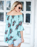 Sable Floral Off The Shoulder Blouse