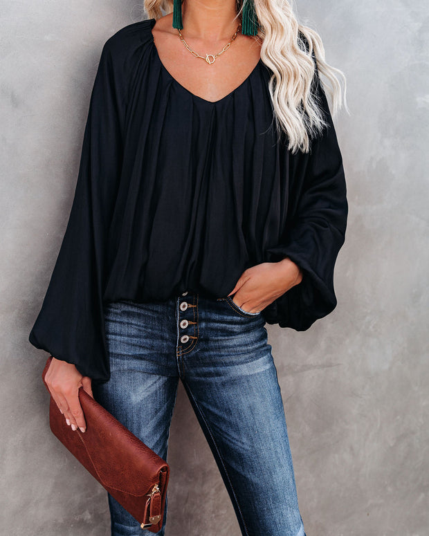 Sacred Billowed Blouse - Washed Black - FINAL SALE view 7