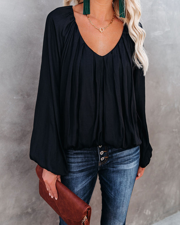 Sacred Billowed Blouse - Washed Black - FINAL SALE view 1