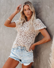 Samantha Cotton Crochet Top