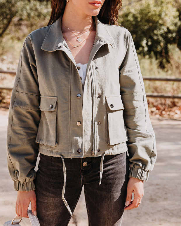 Sanborn Cotton Pocketed Drawstring Cargo Jacket - FINAL SALE view 5