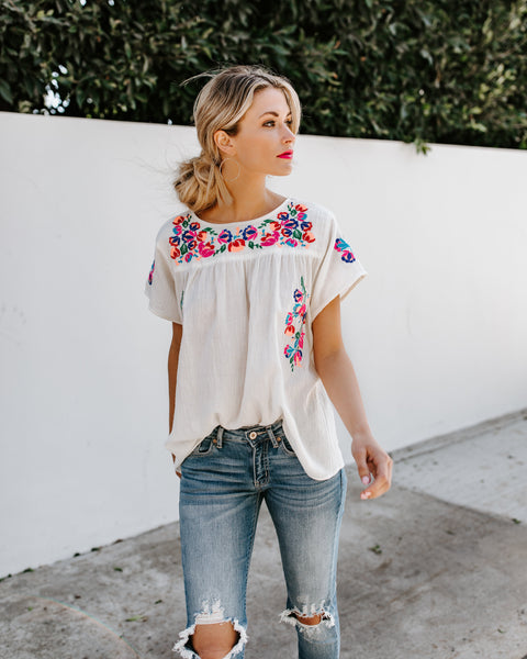 Sayulita Embroidered Top