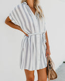 Scenic Drive Striped Tie Tunic
