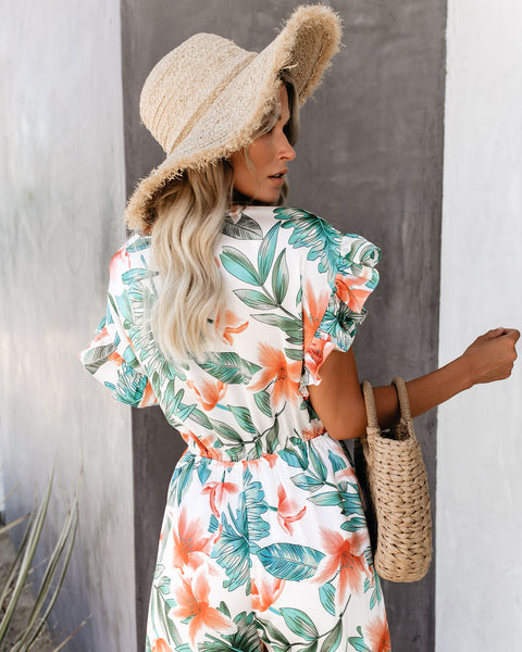 Seasonal Picks Floral Pocketed Jumpsuit - FINAL SALE