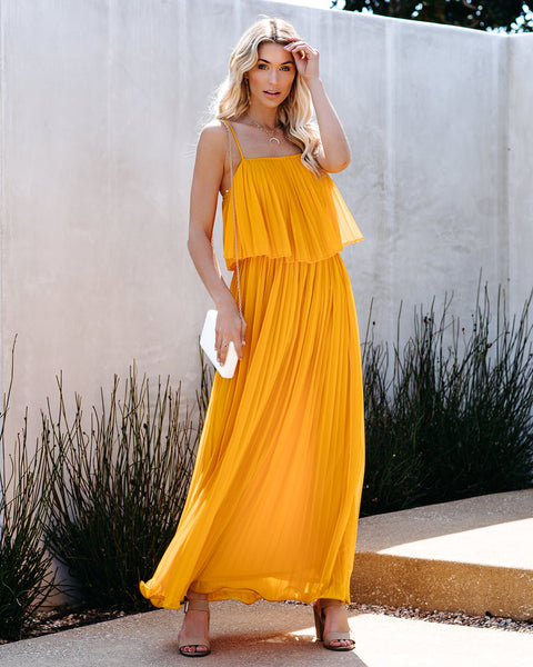Secluded Beach Pleated Maxi Dress - Mango - FINAL SALE