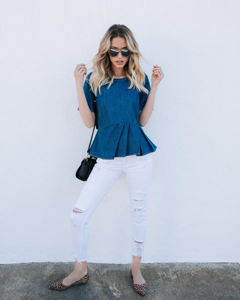 Delta Dawn Denim Top - FINAL SALE
