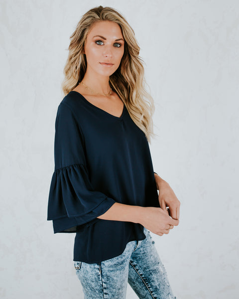 Always The One Blouse - Navy