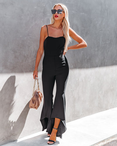 Seek To Be Chic Ruffle High Low Hem Jumpsuit