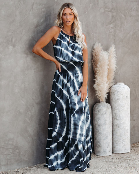 Seems Like A Dream Tie Dye Smocked Maxi Dress