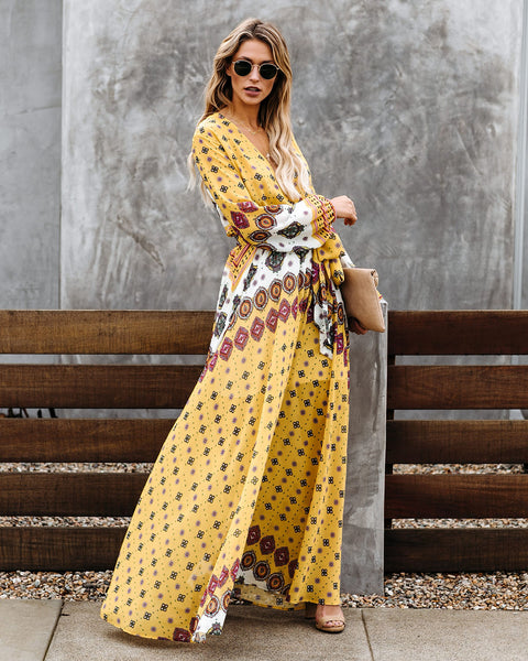 Sentimental Feeling Printed Maxi Dress - FINAL SALE