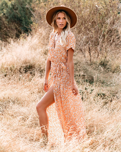Sets In The West Bardot Wrap Maxi Dress