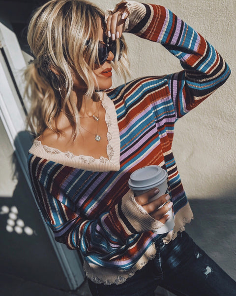 That Seventies Distressed Sweater - FINAL SALE