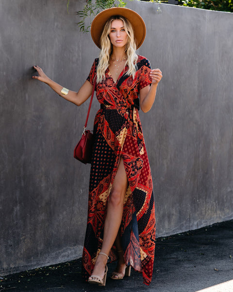 Seven Wonders Bardot Wrap Maxi Dress - FINAL SALE