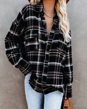 Shades Of Autumn Cotton Plaid Button Down Top