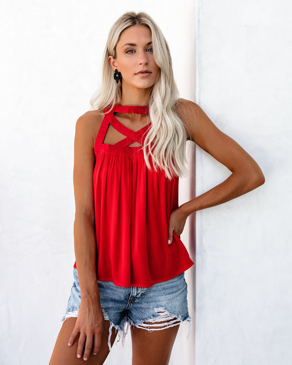 040babbfb54 Shape Up Caged Tank - Red