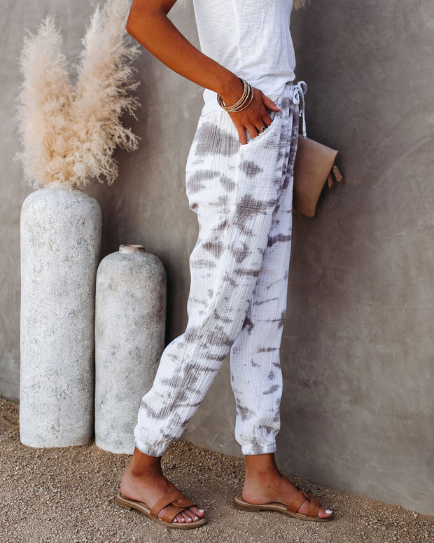 Shasta Cotton Pocketed Crinkled Tie Dye Joggers