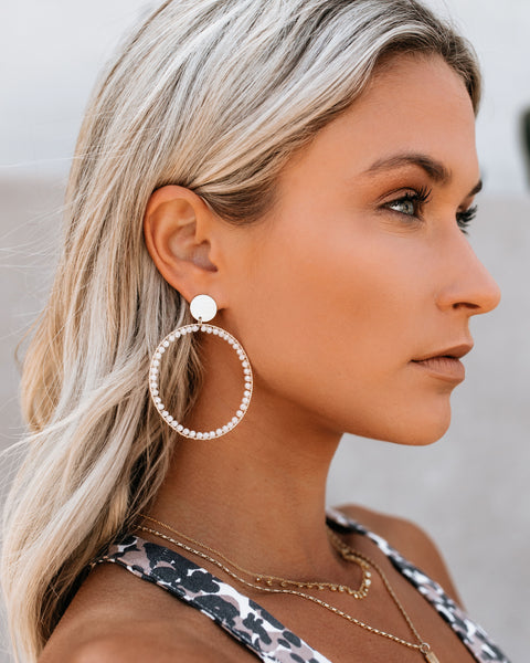 She's An Angel Beaded Hoops - White
