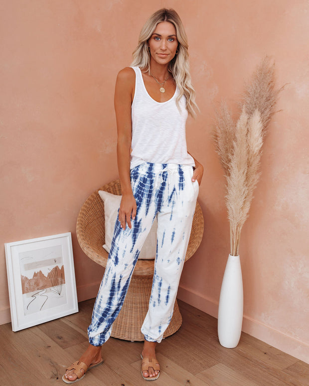 Ship To Shore Pocketed Tie Dye Knit Joggers