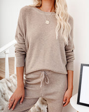 Silent Mode Thermal Knit Top - Brown Sugar