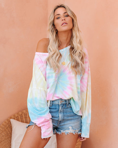 PREORDER - Silly Me Cotton Tie Dye Knit Top