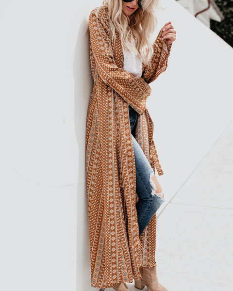 Smooth As Silk Duster Kimono