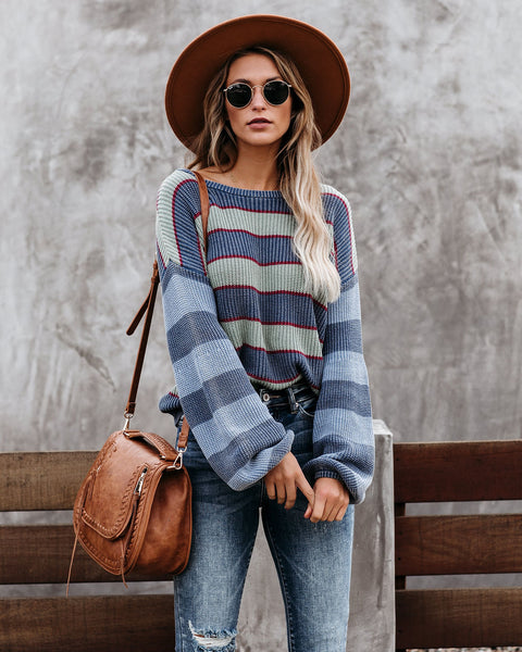 Sing A Chorus Cotton Striped Knit Sweater