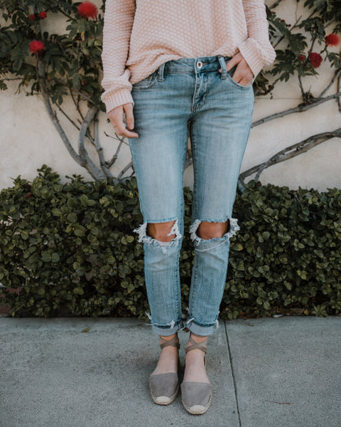 Amici Light Wash Ripped Denim