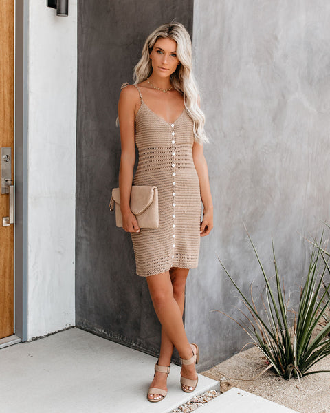 PREORDER - Sky Above, Sand Below Crochet Tie Dress