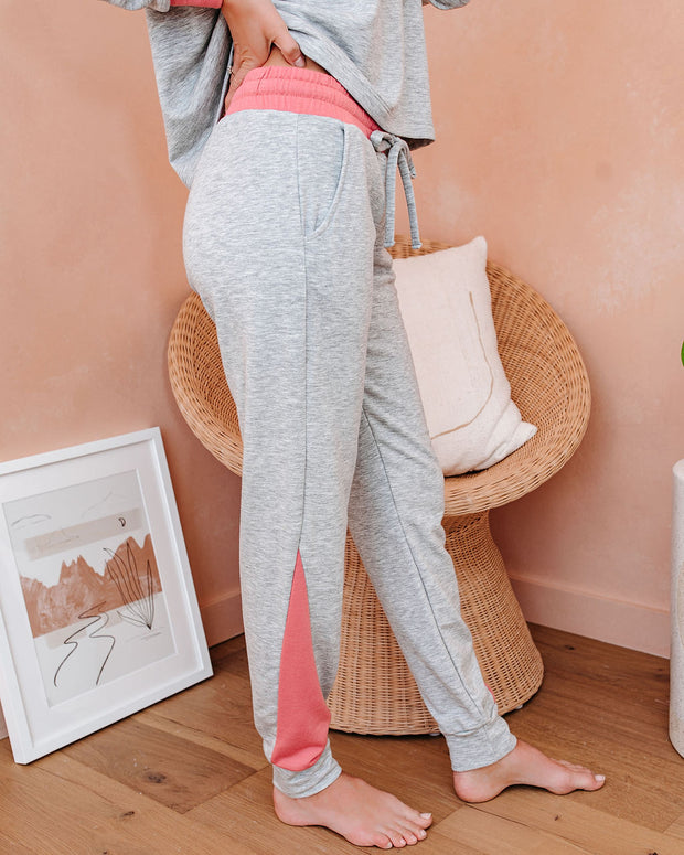Sleeping Beauty Pocketed Colorblock Knit Joggers