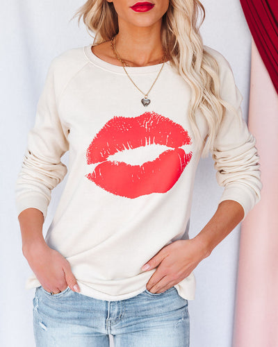 Smooch Premium Cotton Blend Raglan Pullover