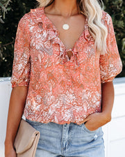 Soak Up The Sun Ruffle Blouse - FINAL SALE