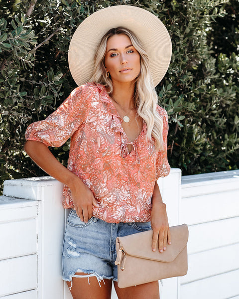 Soak Up The Sun Ruffle Blouse