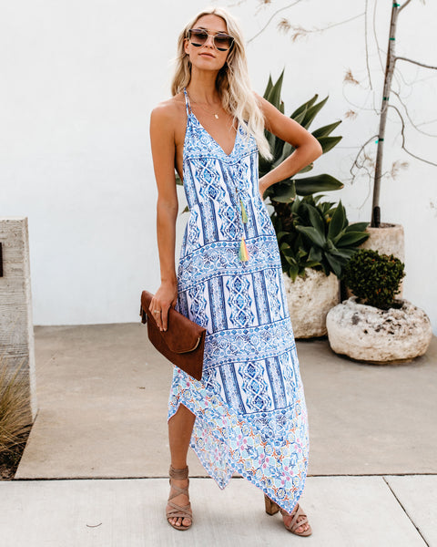 Soak Up The Sun Tassel Handkerchief Dress