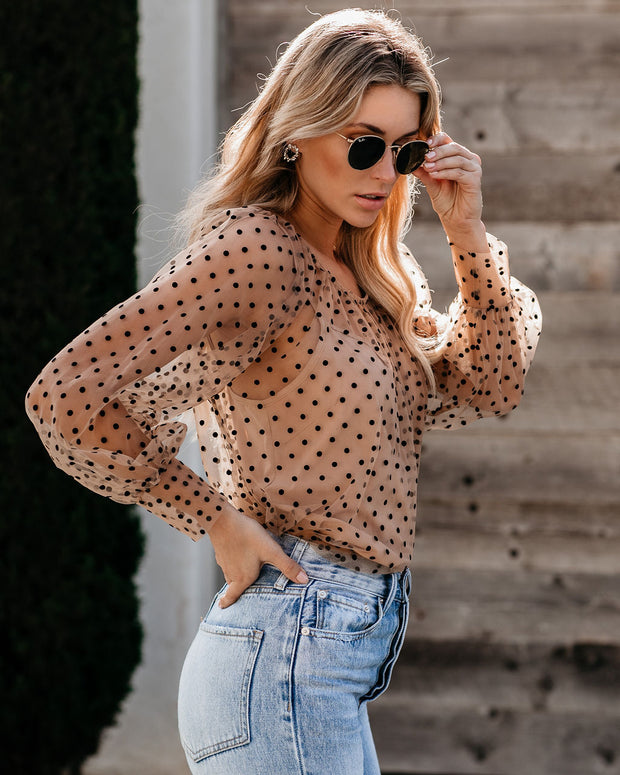 Something About You Polka Dot Blouse