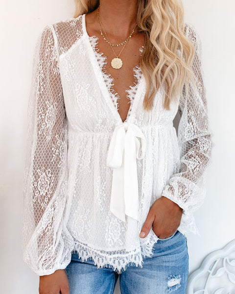 Sommer Lace Babydoll Top