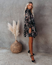 Sonder Pocketed Floral Boho Dress